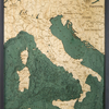 """Italy Wood Map 24.5"""" x 31"""""""