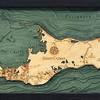 "Grand Cayman Wood Carving 13.5""W x 31""L"
