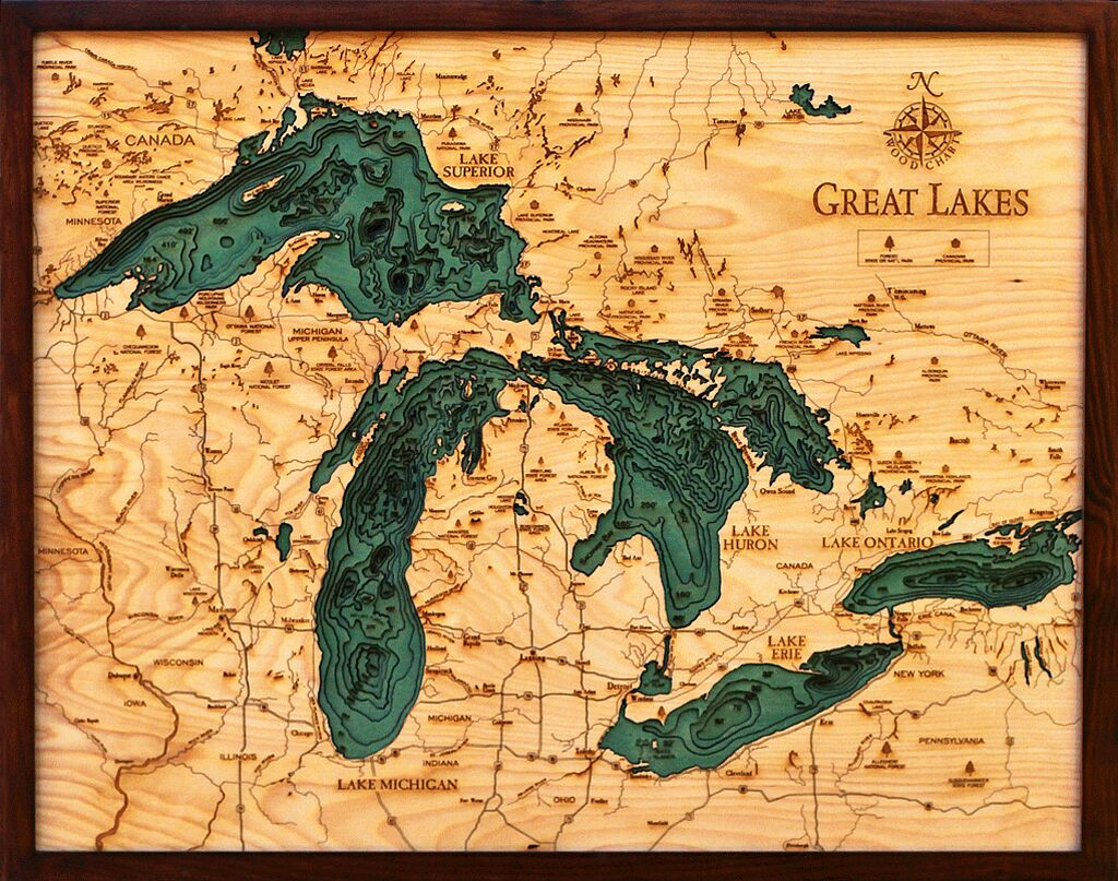 """Great Lakes Wood Carving 24.5""""W x 31""""L"""