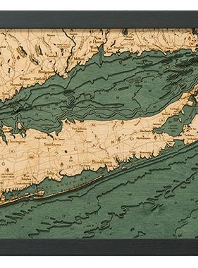 """Long Island Sound Wood Carving 13.5"""" x 31"""""""