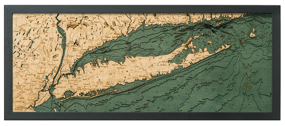 "Long Island Sound Wood Carving 13.5"" x 31"""