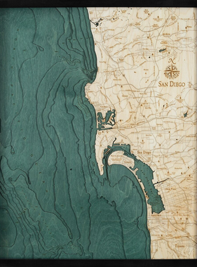 "San Diego Wood Carving 24.5""L x 31""W"
