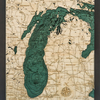 "Lake Michigan Wood Carving 16""H x 20""W"