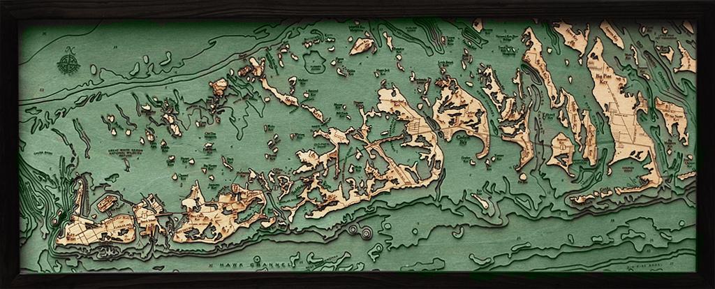 "Florida Keys Wood Carving 13.5""W x 31""L"
