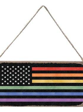 Signs of Hope - Rainbow American Flag