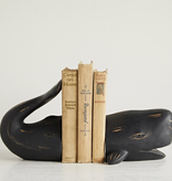 """Resin Whale Bookends, Set of 2 6.75""""H"""