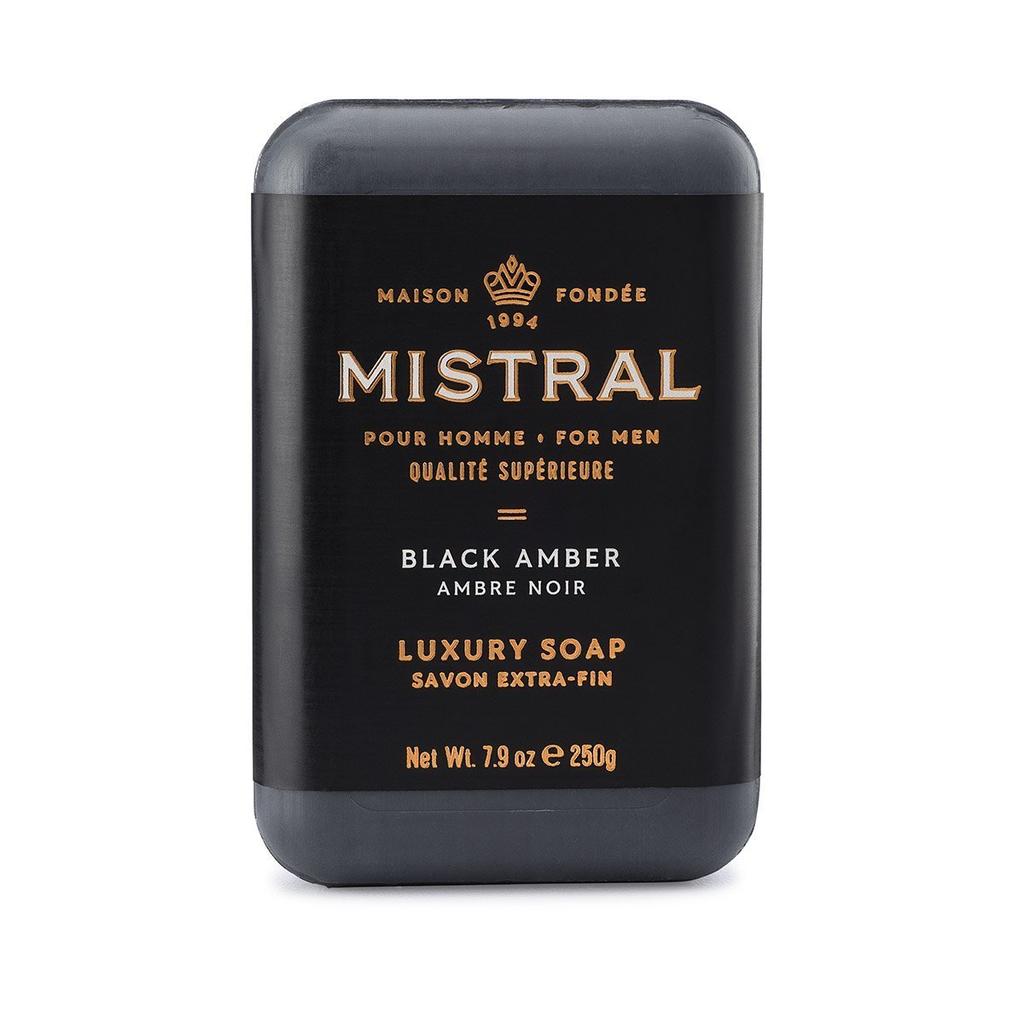 French Bar Soap - Black Amber 7.9oz