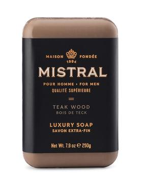 French Bar Soap - Teak Wood 7.9oz