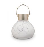 """Glass Solar Tea Lantern - White 5.5"""""""