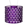 """Solar Lantern - Drum Plum 6.5"""" x 8"""""""