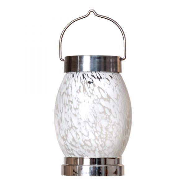 "Solar Oval Boater's Lantern - White 4.25""W x 7.5""H"