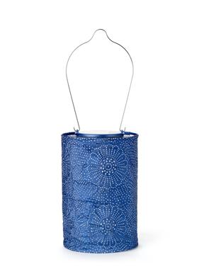 "Solar Lantern - Midnight Blue 7.5"""