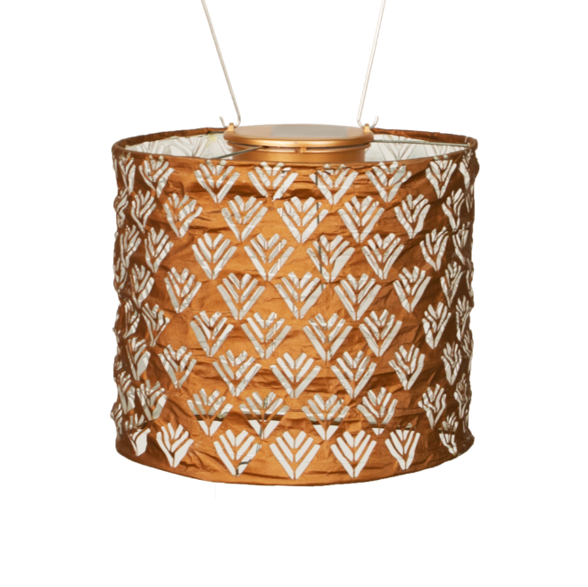 "Solar Lantern - Drum Copper 6.5"" x 8"""