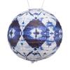 "Printed Globe Solar Lantern - Blue Batik 12"""