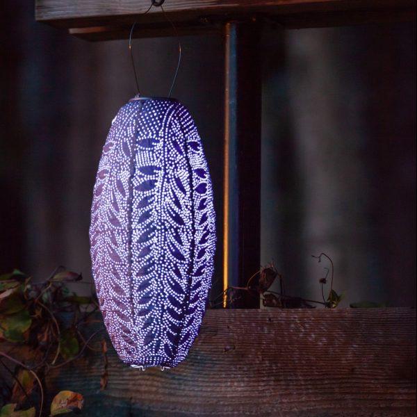 "Flora Pod Solar Lantern - Lavendar 17"""