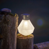 "Gem Light Glass Solar Lantern - Milk 5.5"" x 7"""
