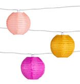 Soji Solar String Lights Peach Bellini (10 piece)