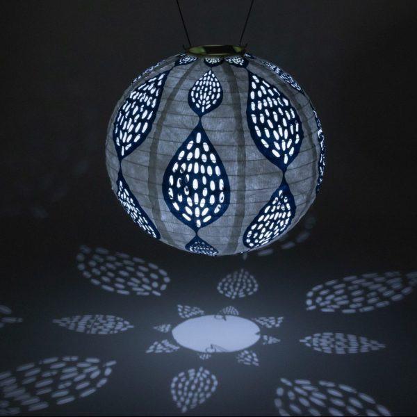 """Indigo Leaf Solar Lanterns - Print Punch 12"""""""