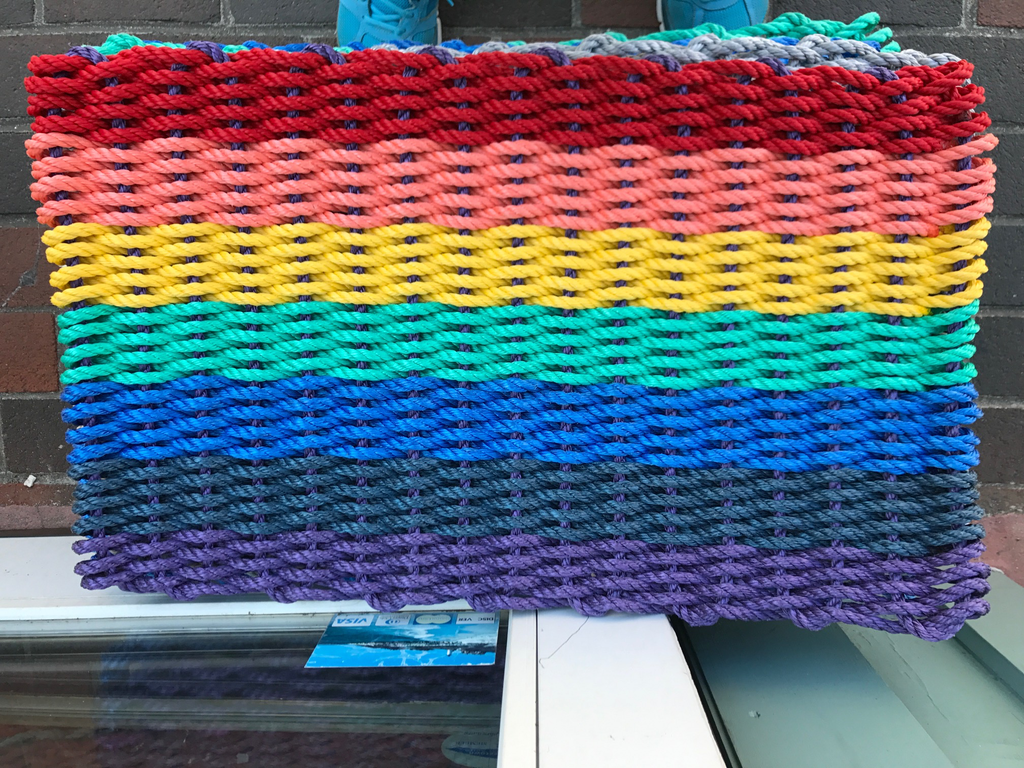 "Door mat Medium - Rainbow 21.5"" x 32"""