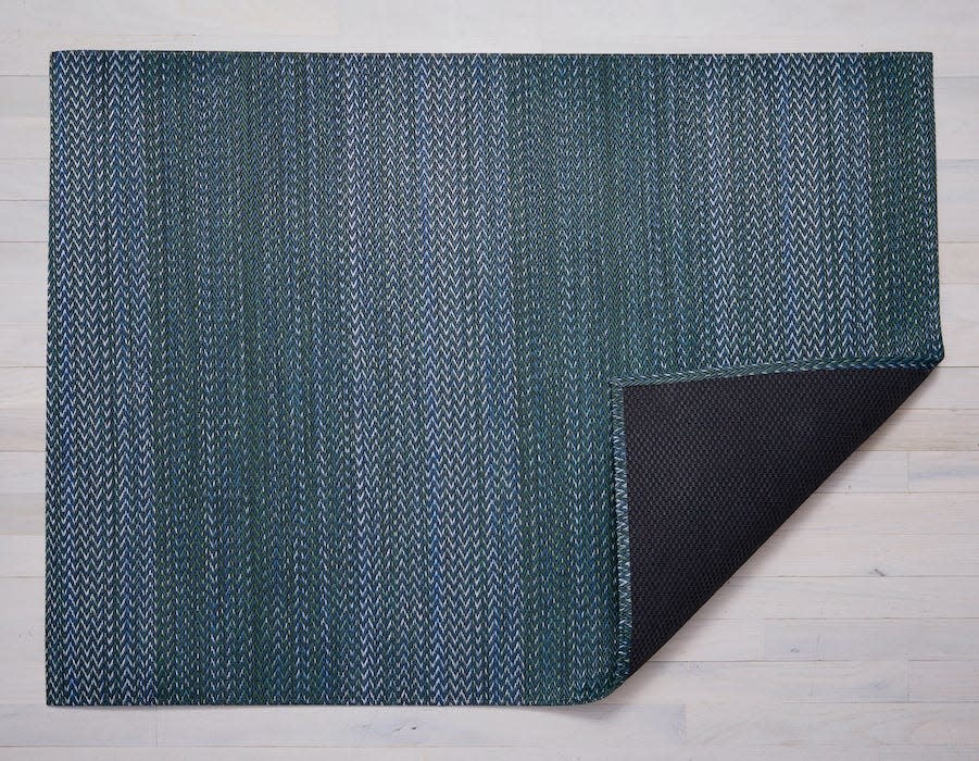 """Chilewich Basketweave Floormat - Forest 46"""" x 72"""""""