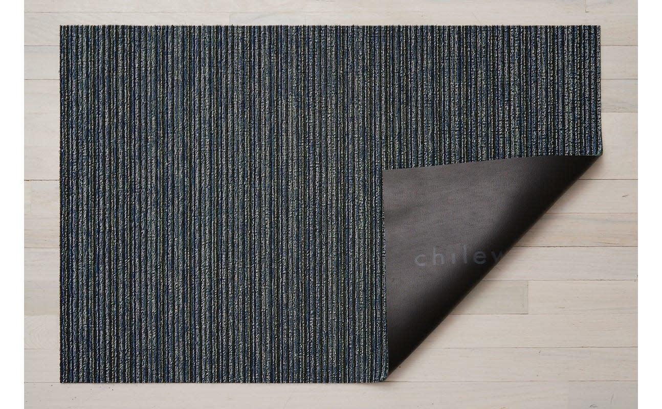"Chilewich Skinny Stripe Shag Doormat - Forest 18"" x 28"""