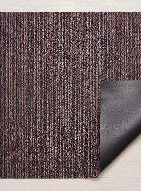 "Chilewich Skinny Stripe Shag Doormat - Mulberry 18"" x 28"""