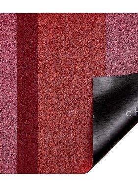 "Chilewich Bold Stripe Shag Doormat - Punch 18"" x 28"""