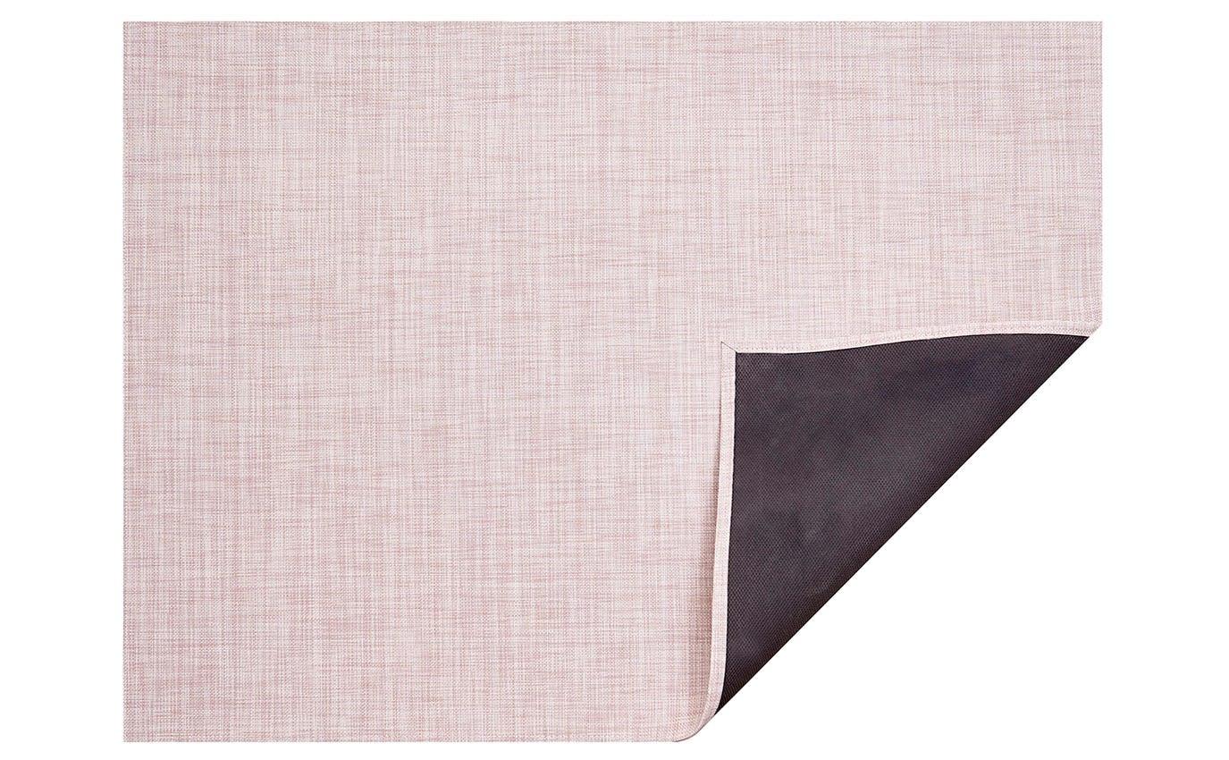 "Chilewich Mini Basketweave Floormat - Blush 23"" X 36"""