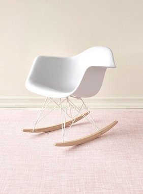 "Chilewich Mini Basketweave Floormat - Blush 35"" x 48"""