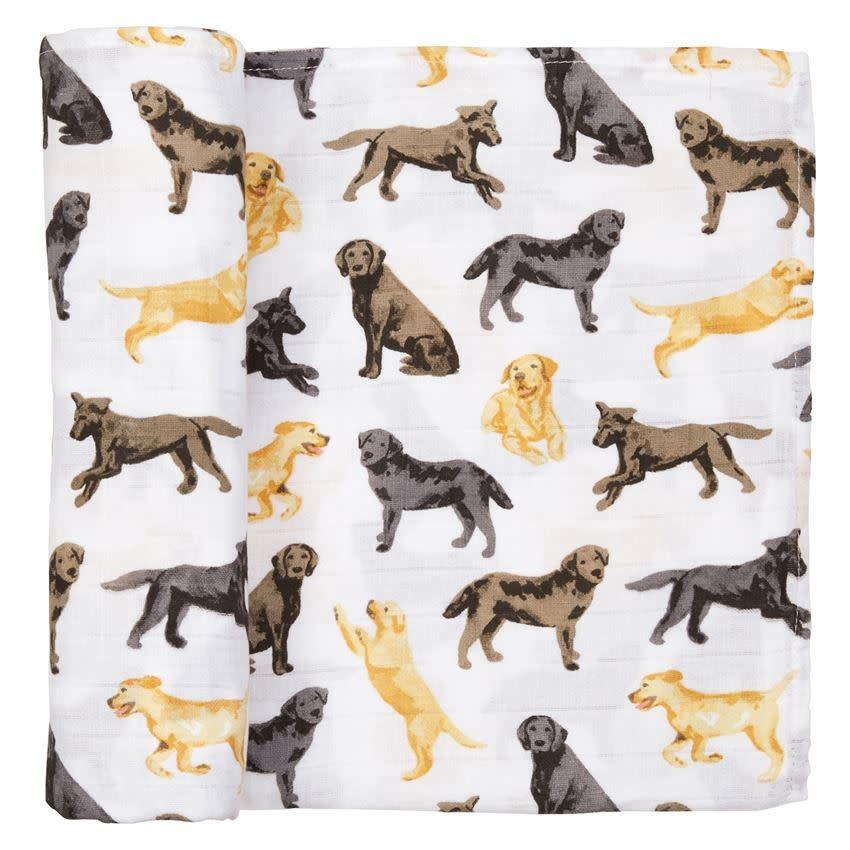 Lab Muslin Swaddle Blanket