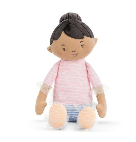 """Black Haired Doll - 14"""" - Strong Little Girl Dolls"""