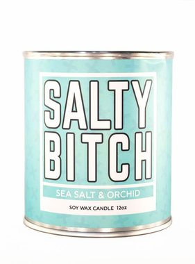 Salty Bitch Candle 12oz - Sea Salt & Orchid