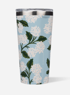 CORKCICLE Tumbler - 16 Ounce Cream Hydrangea