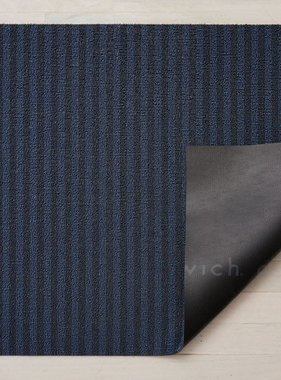 "Chilewich Breton Stripe Shag Big Mat - Blueberry 36"" x 60"""