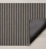"Chilewich Breton Stripe Shag Doormat - Gravel 18"" x 26"""