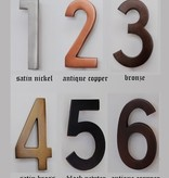 """Diecast Metal Numbers - 4""""H Width varied 1"""" to 2.75"""" Available in 6 Finishes"""