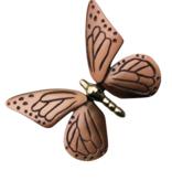 "Butterfly Door Knocker Polished Brass & Satin Bronze - 7.25""H x 7""W x 1.75""D"