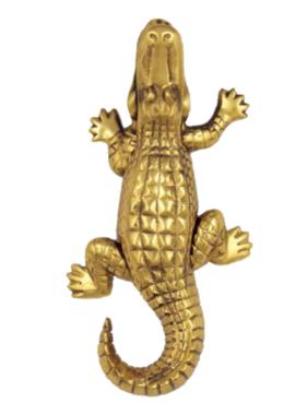 """Alligator Premium Door Knocker - 7.25""""H X 3.75""""W X 2""""D"""