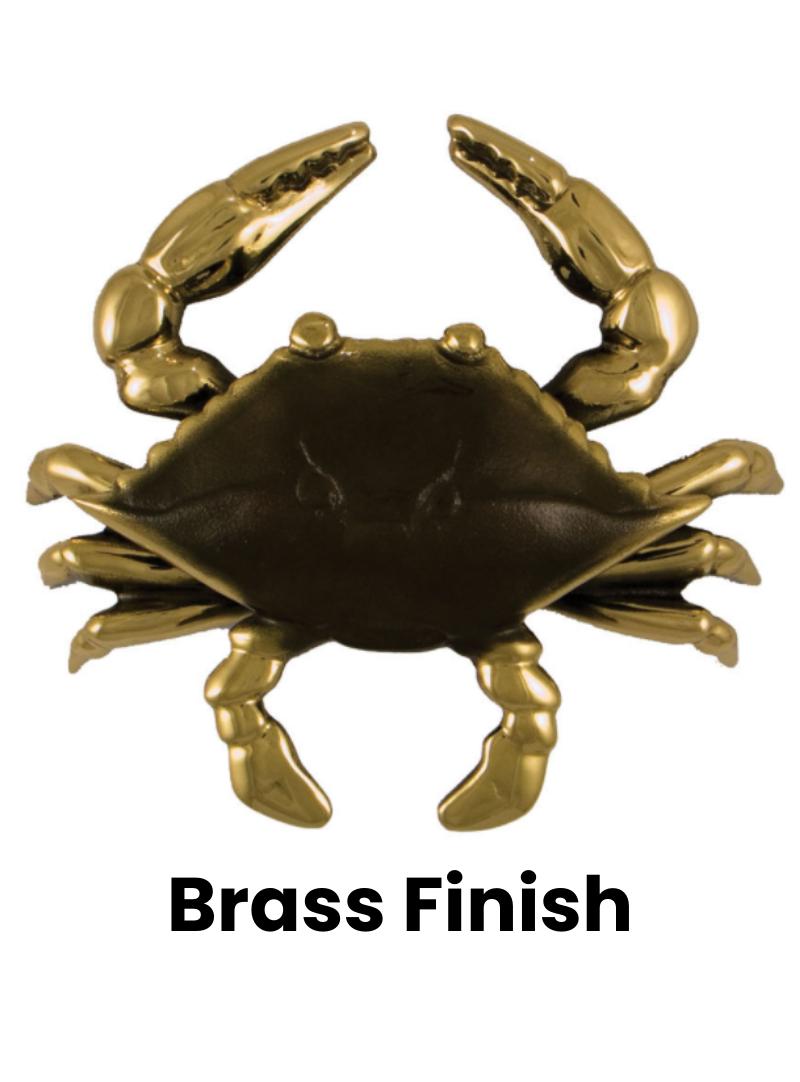 "Blue Crab Standard Door Knocker - 6.5""H x 3""W x 1.5""D"