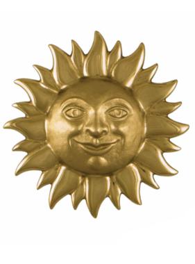 "Smiling Sunface Premium Door Knocker - 6.5""H x 6.5""W x 2""D"