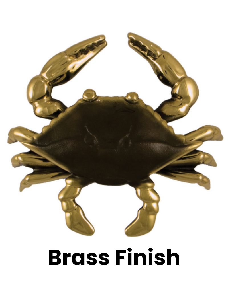 """Crab Premium Door Knocker - 6""""H x 7""""W x 2 1/2""""D"""