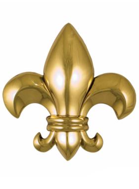 """Fleur De Lys Premium Door Knocker - 5 3/4""""H x 5 3/4""""W x 2""""D"""