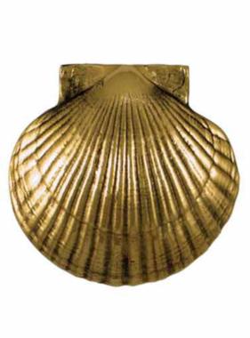 "Scallop Shell Premium Door Knocker - 5 1/4""H x 5 1/2""W x 2""D"