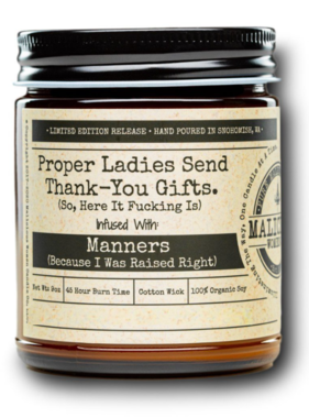 MALICIOUS WOMEN Proper Ladies Soy Candle 9oz - Pink Chandelier Scent