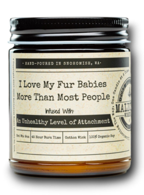 MALICIOUS WOMEN Fur Babies Soy Candle 9oz - Frooty Loops Scent
