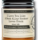 MALICIOUS WOMEN Back Alley Hooker 9 oz Soy Candle - Cotton Candy & Pine Scent