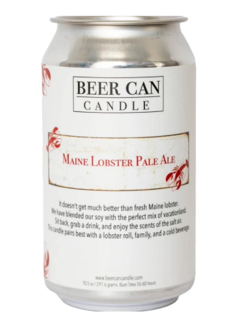 BEERCANCANDLES Beer Can Candle - Maine Lobster Pale Ale 10.5oz