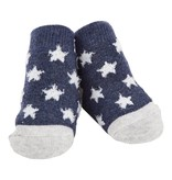 Navy Chenille Dot Socks