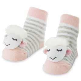 Pink Sheep Rattle Toes Socks