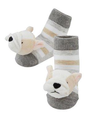 French Bulldog Rattle Toe Socks